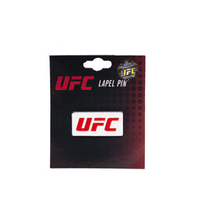 UFC Lapel Pin Logo White-Red
