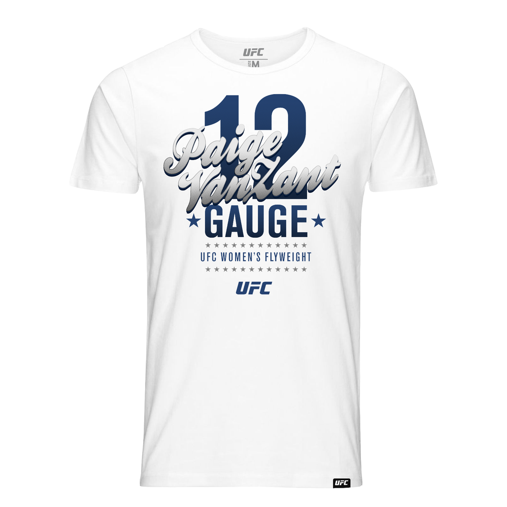 "UFC Paige ""12 Gauge"" VanZant Graphic T-Shirt-White"
