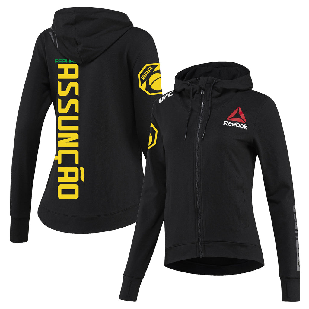 Women's Reebok Raphael Assunção Black UFC Fight Night Walkout Hoodie Replica