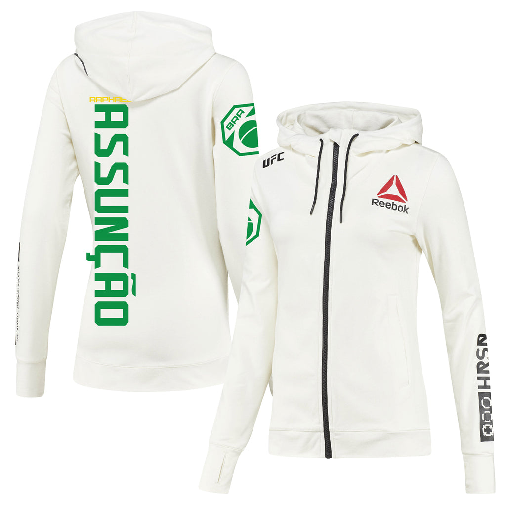Women's Reebok Raphael Assunção Chalk UFC Fight Night Walkout Hoodie Replica