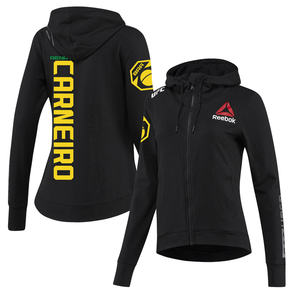 Women's Reebok Renato Carneiro Black UFC Fight Night Walkout Hoodie Replica