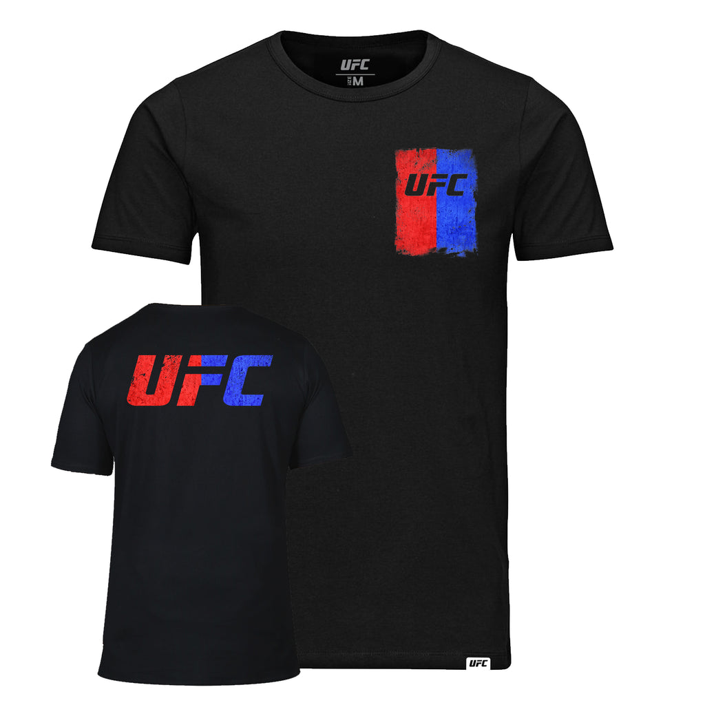 UFC Fighting out of Red & Blue Corner T-Shirt -Black