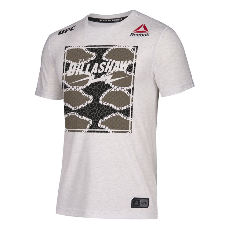 Men's Reebok TJ Dillashaw Chalk Authentic UFC Fight Night Brooklyn Legacy Series Walkout Jersey