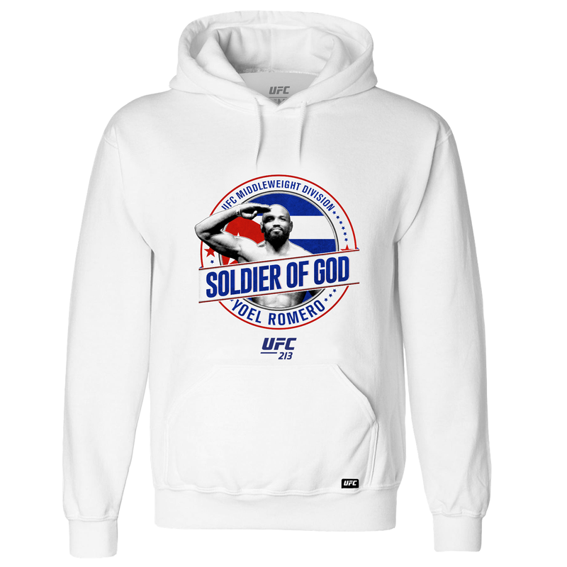 "UFC Yoel ""Soldier of God"" Romero Graphic Hoodie - White"