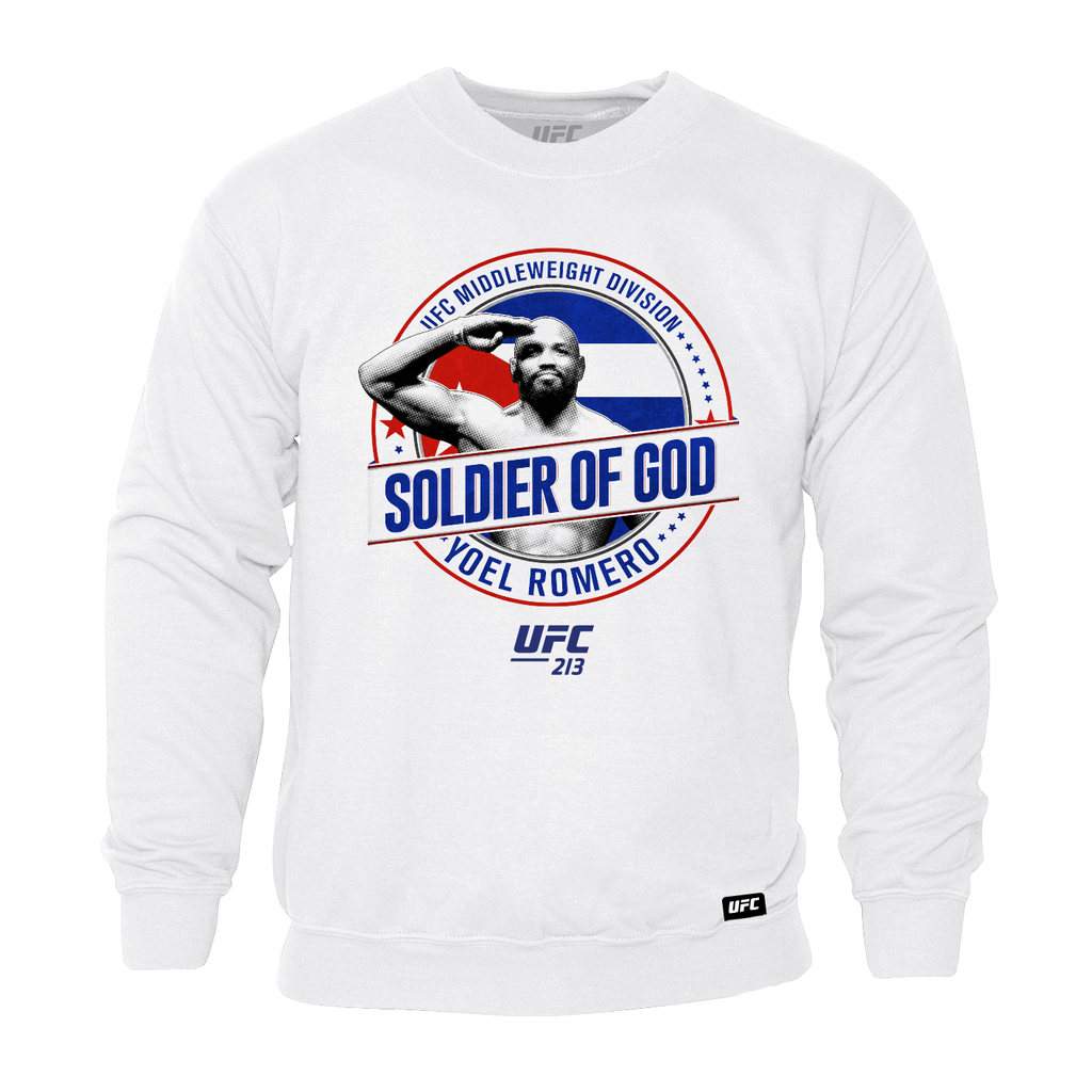 "UFC Yoel ""Soldier of God"" Romero Graphic Sweatshirt - White"