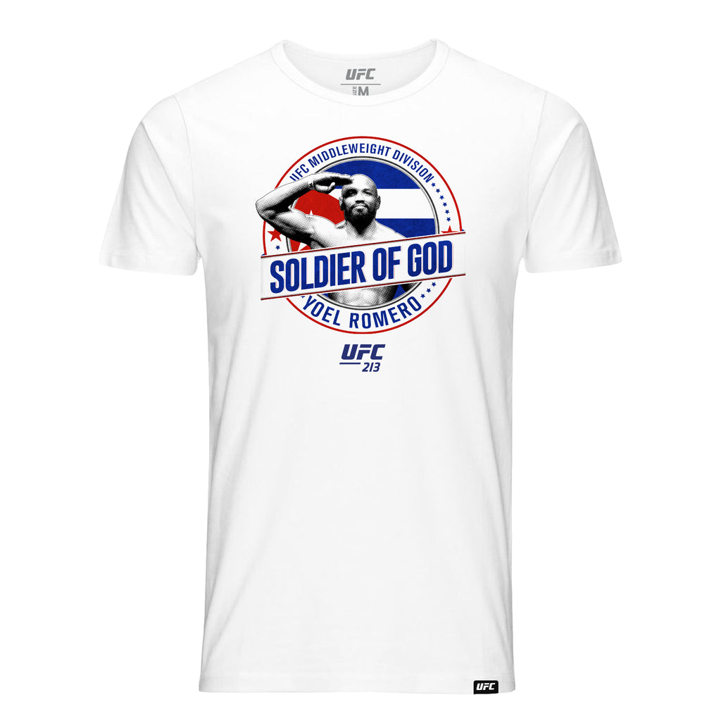 "UFC Yoel ""Soldier of God"" Romero Graphic T-Shirt - White"