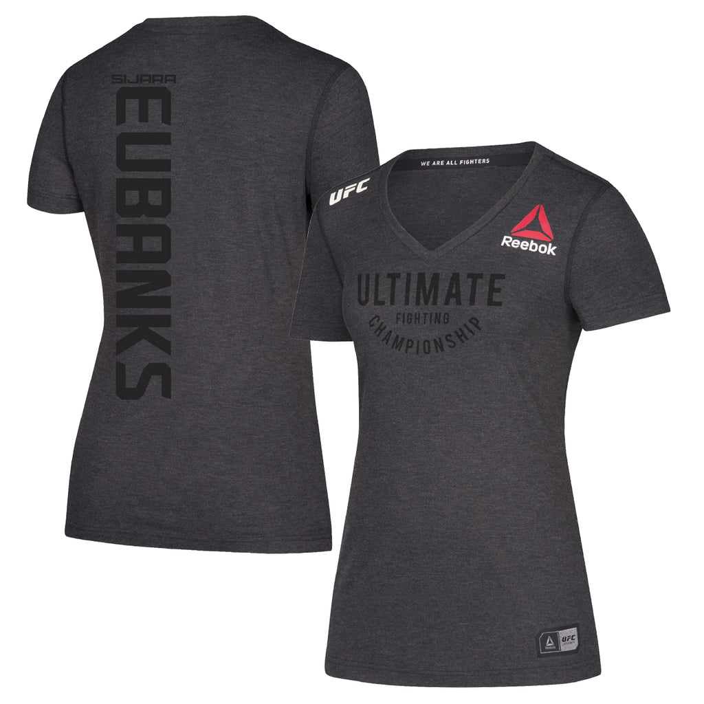 Women's Reebok Sijara Eubanks Black Authentic UFC Fight Night Walkout Jersey