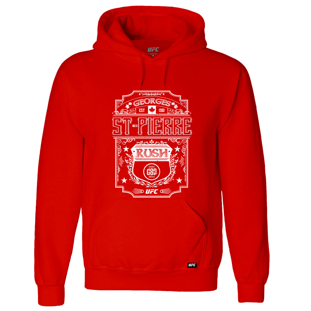 UFC Georges St-Pierre Rush Graphic Kid's Hoodie-Red