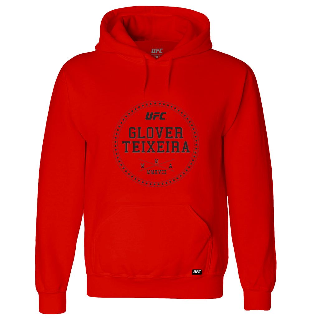 UFC Glover Teixeira Graphic Hoodie-Red