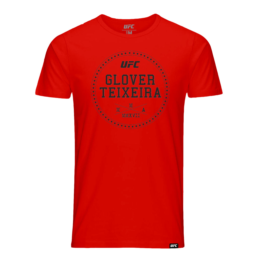 UFC Glover Teixeira Graphic T-Shirt-Red