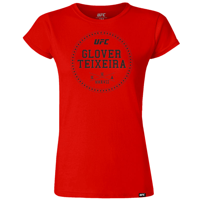 UFC Glover Teixeira Graphic Women's T-Shirt-Red