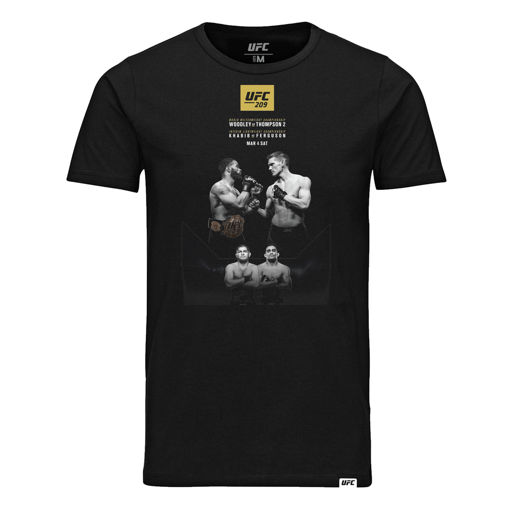 UFC 209  Woodley vs Thompson 2 Event -T-Shirt-Black