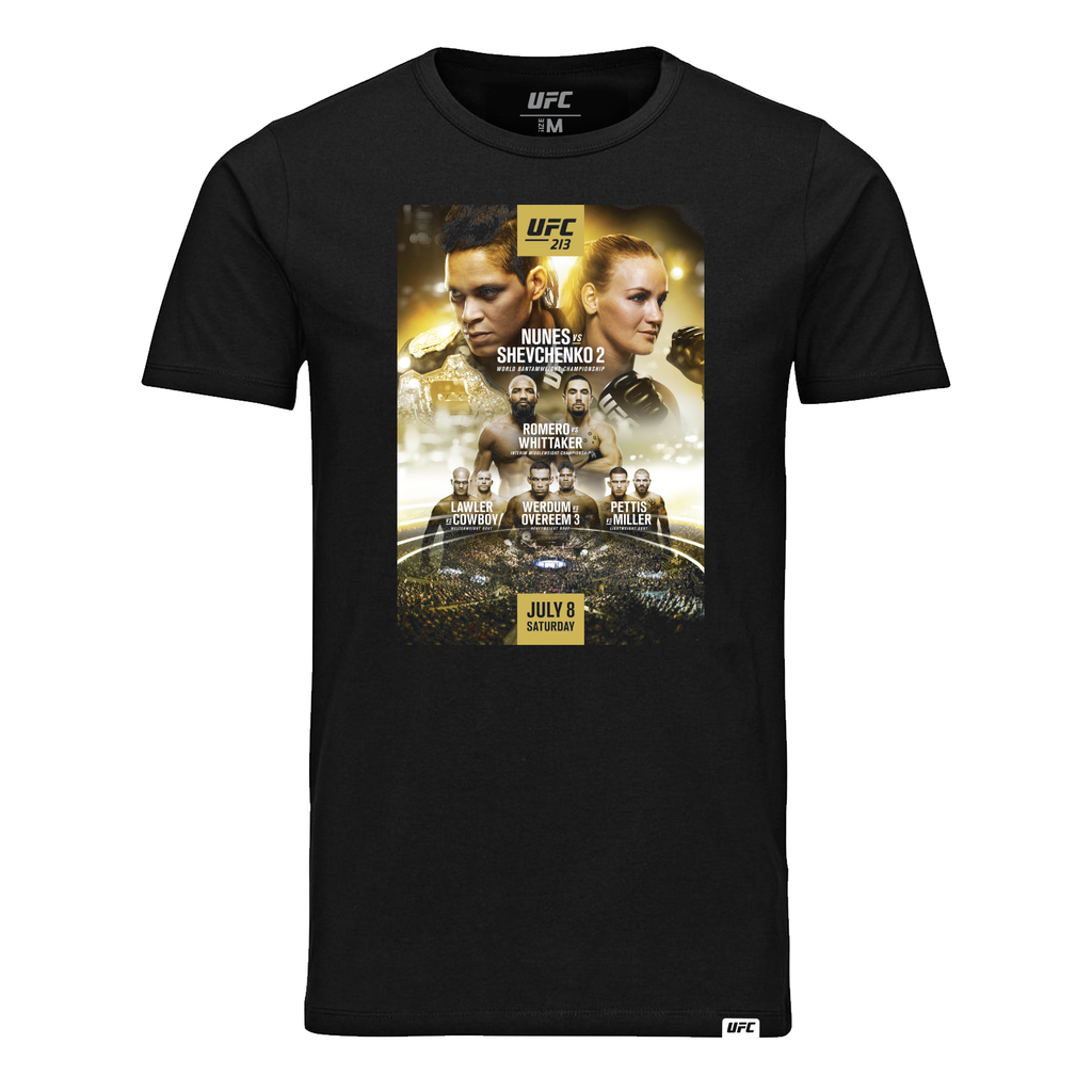 UFC 213 Nunes vs. Shevchenko 2 Event T-Shirt-Black