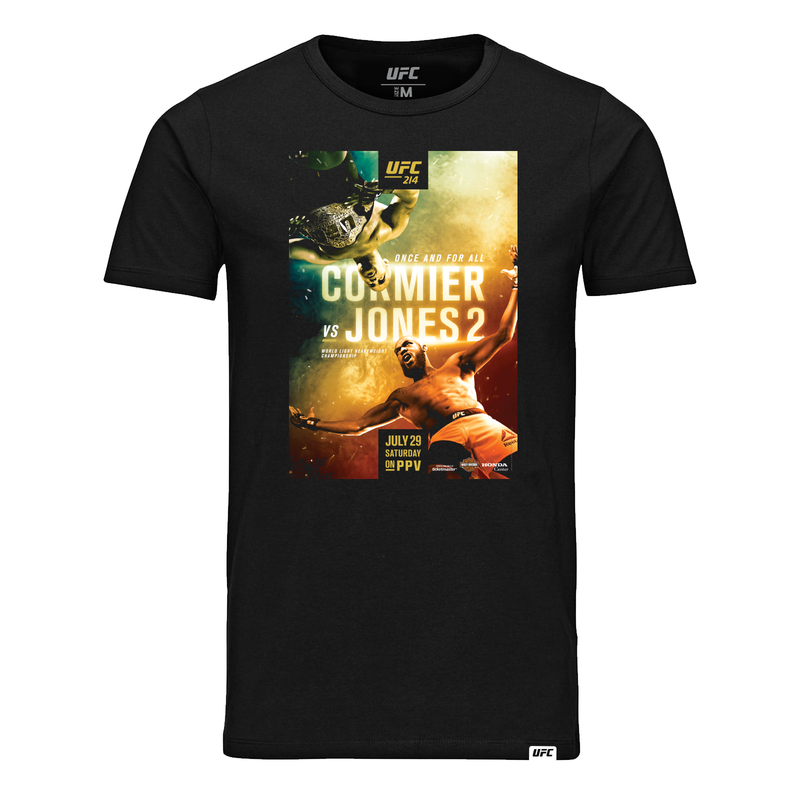 UFC 214 Cormier vs. Jones 2 Event T-Shirt-Black