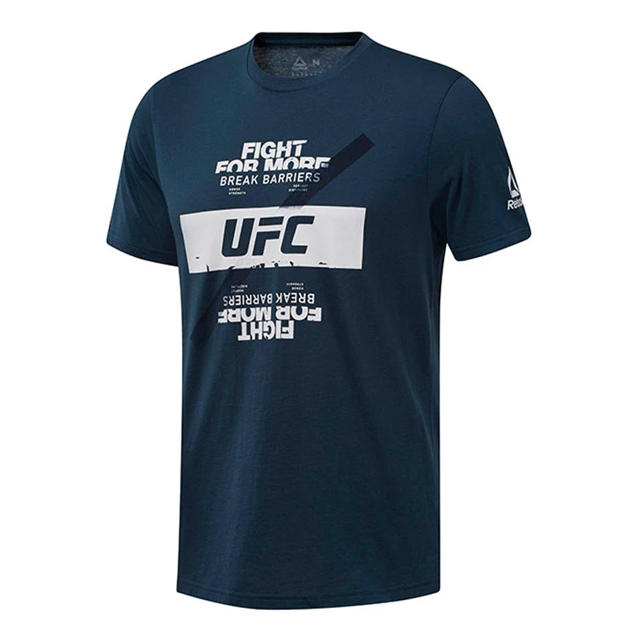 Reebok Blue UFC Fan Gear Fight For More T-Shirt