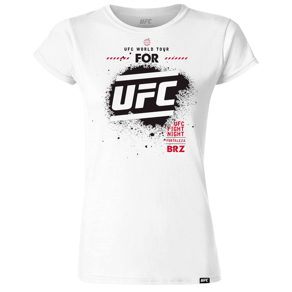 Women's Fortaleza World Tour City UFC T-Shirt-White