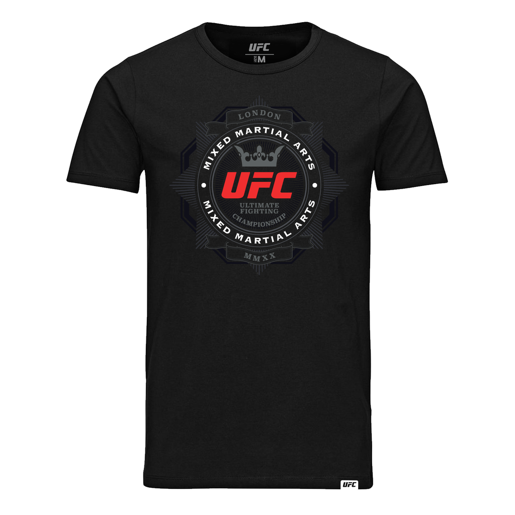 Men's UFC Fight Night London UK of MMA Graphic T-Shirt-Black