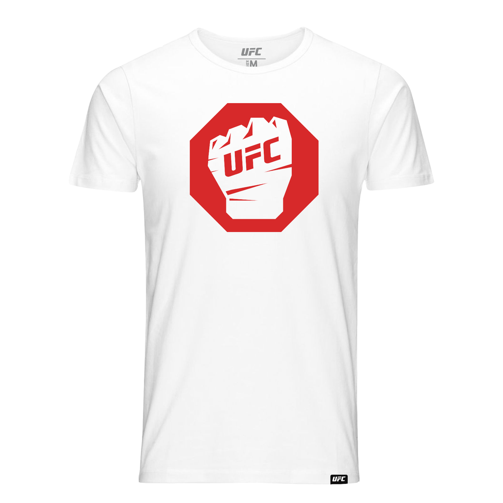 UFC Octagon Glove Fist T-Shirt-White