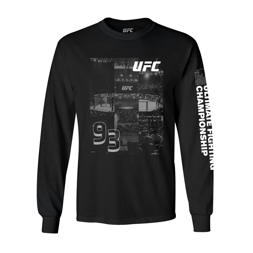 Men's UFC Photo Collage Long Sleeve T-Shirt
