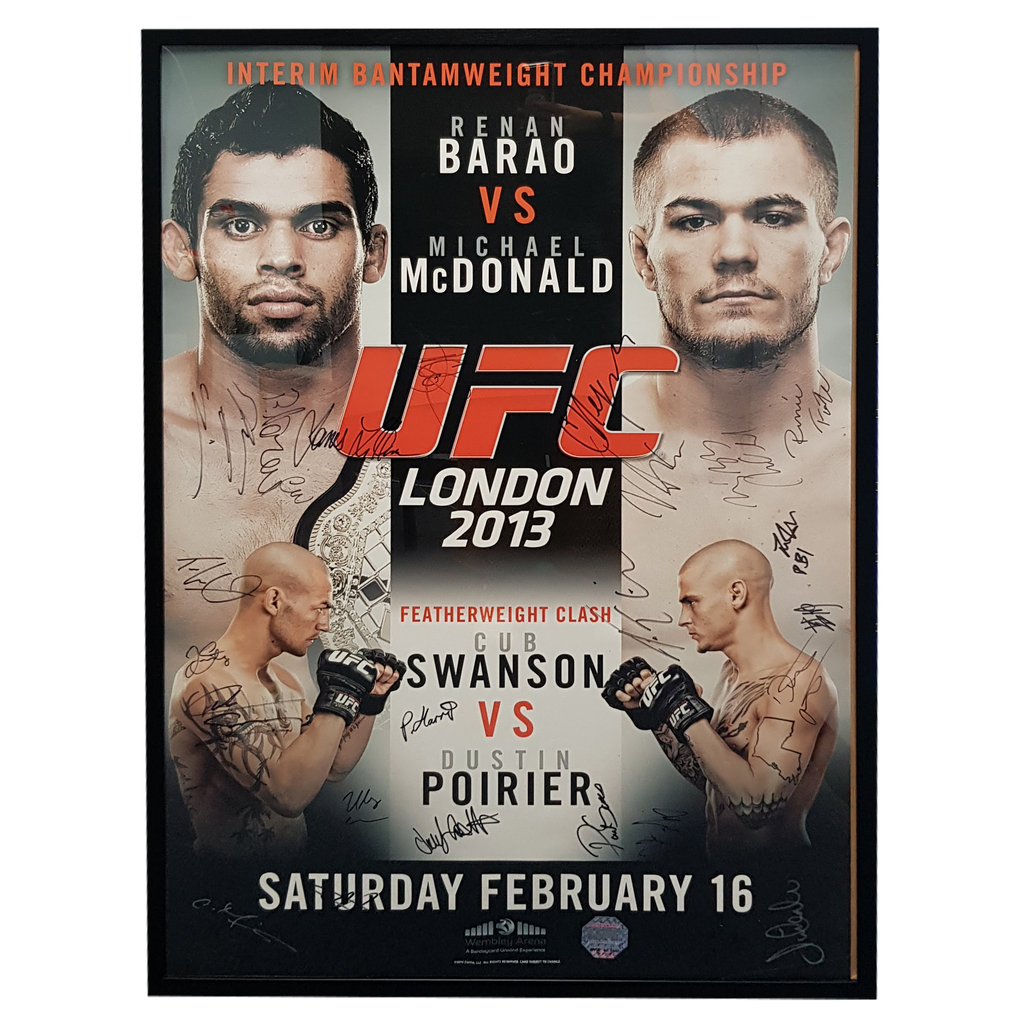 "UFC on Fuel TV Autograph Event Posters Barão vs. McDonald 27"" x 39"""