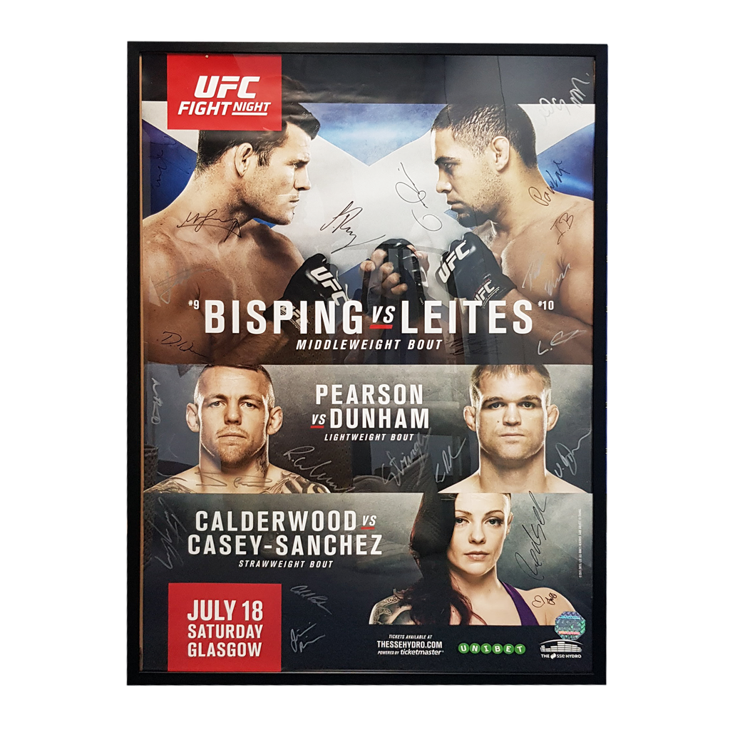 "UFC Fight Night 72 Bisping vs. Leites Glasgow Autograph Event Posters 27"" x 39"""