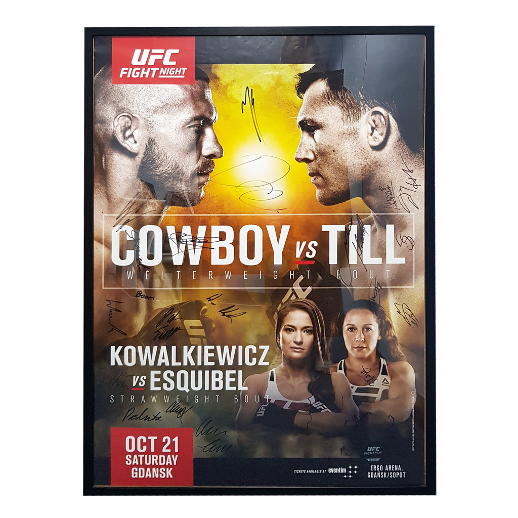 "UFC Fight Night 118 Cowboy vs. Till Gdansk Autograph Event Posters 27"" x 39"""