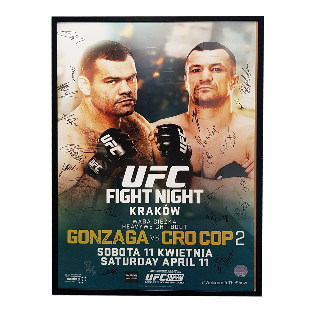 "UFC Fight Night 64 Gonzaga vs. Cro Cop 2 Krakow Autograph Event Posters 27"" x 39"""