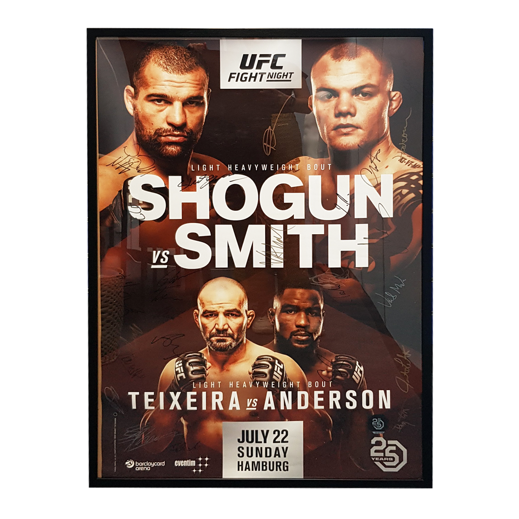 "UFC Fight Night 134 Shogun vs. Smith Hamburg Autograph Event Posters 27"" x 39"""