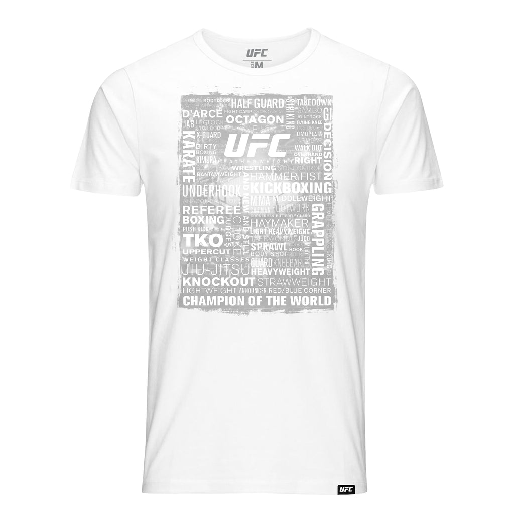 UFC Terminology all over print T-Shirt-White