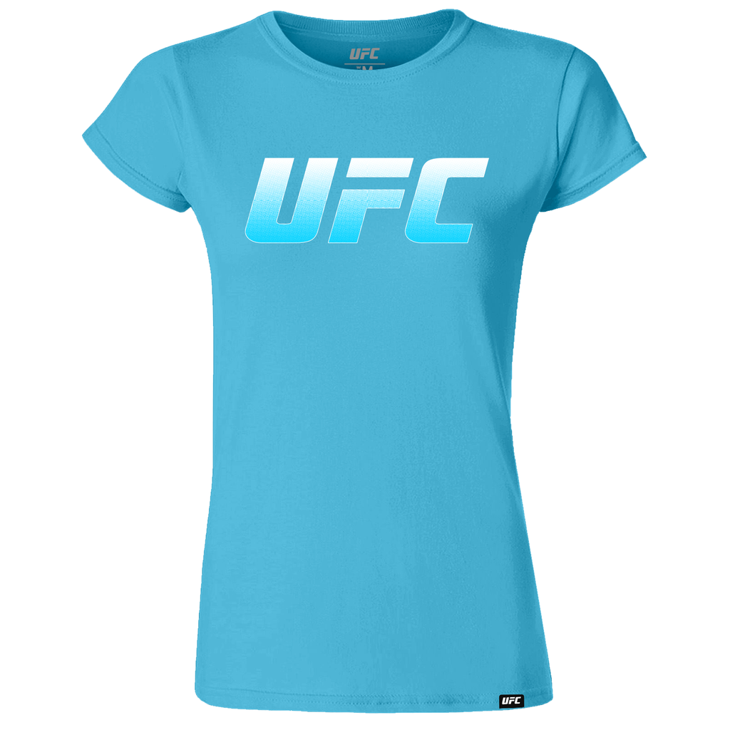 UFC Branded Women's Logo T-Shirt-Turquoise