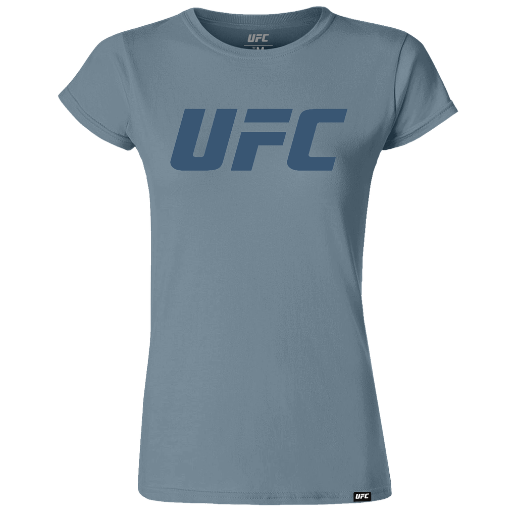 UFC Branded Women's Logo T-Shirt- Charcoal