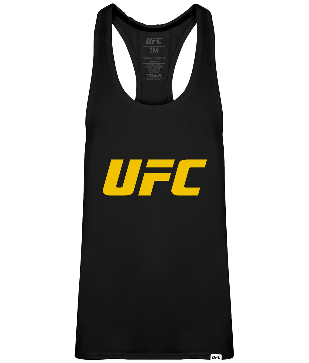 UFC Men's Gym Vest Yellow Logo-Black