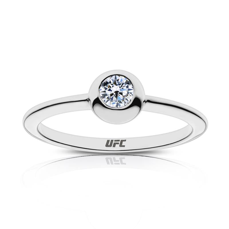 UFC Elements Engraved Diamond Ring in Sterling Silver