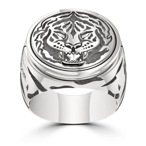 UFC Classics Engraved Multiband Diamond Cuff Ring in Sterling Silver