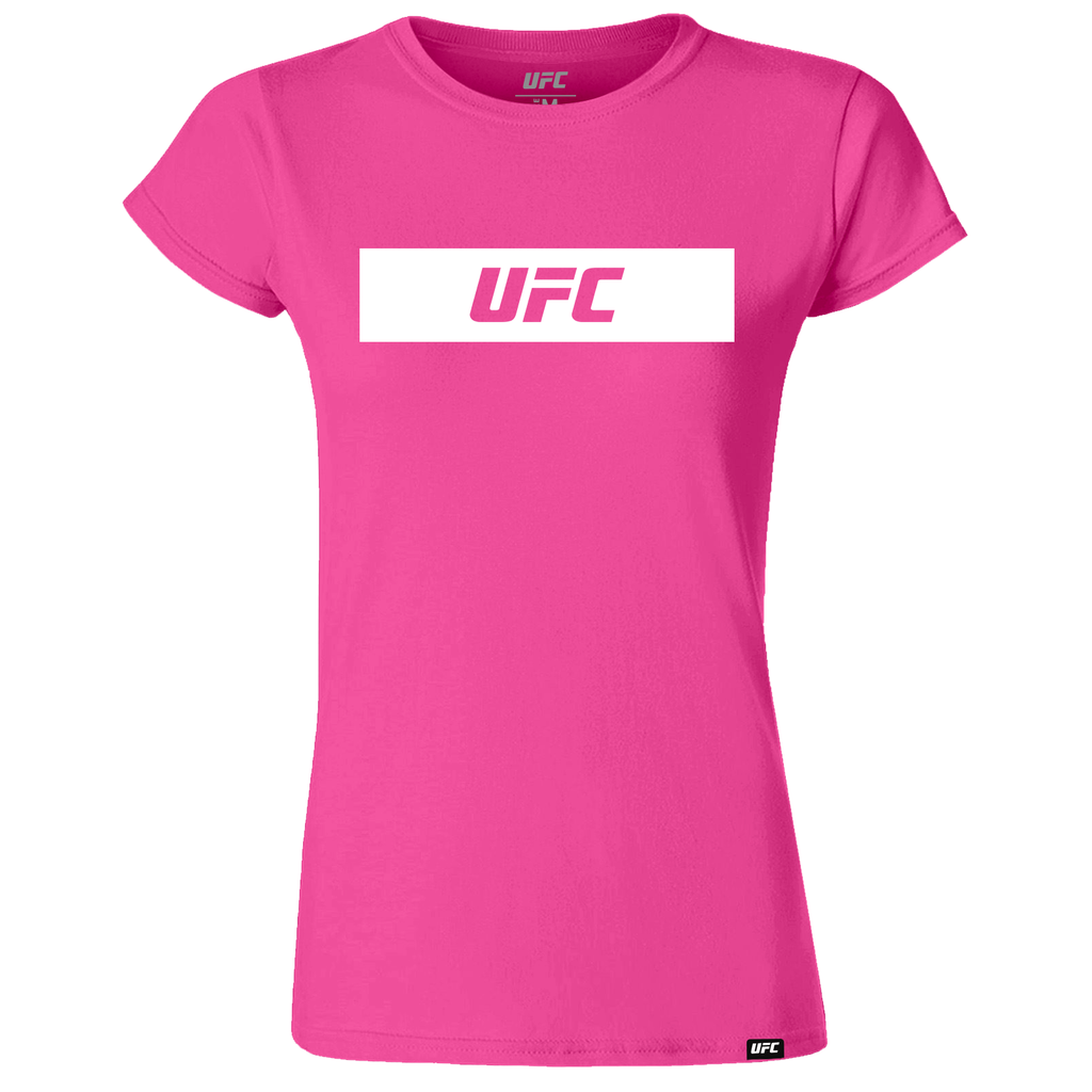 UFC Branded Women's Silhouette T-Shirt-Pink