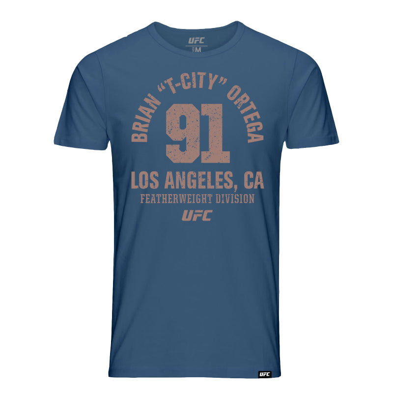 "Brian ""T-City"" Ortega Los Angeles Est 91 State T-Shirt - Blue"