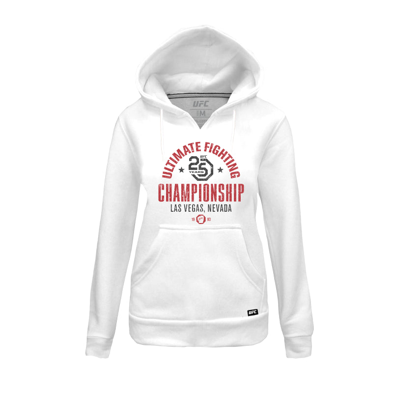 UFC 25th Anniversary Commemorative Vintage Women's Hoodie- White