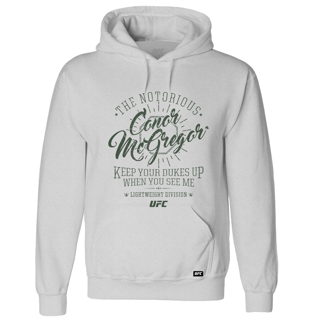 "UFC 229 Conor ""The Notorious"" McGregor Quote Hoodie - Grey"