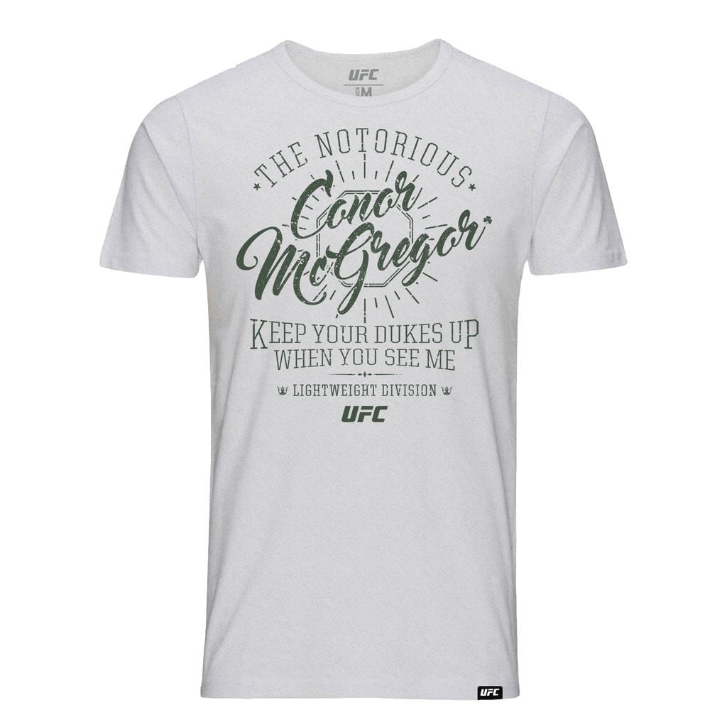 "Men's UFC Conor ""The Notorious"" McGregor Quote Kid's T-Shirt - Grey"