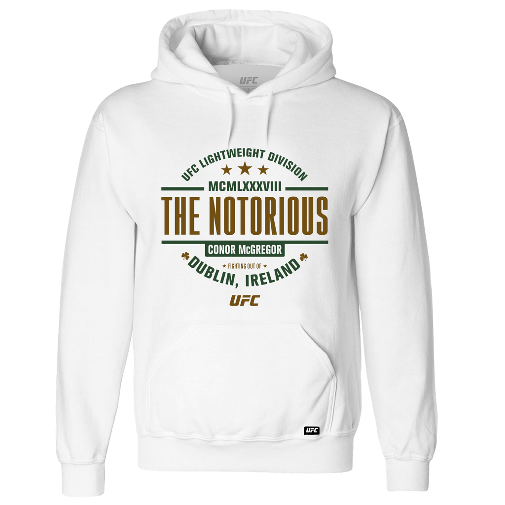 "UFC 229 Conor ""The Notorious"" McGregor MCMLXXXVIII Hoodie - White"