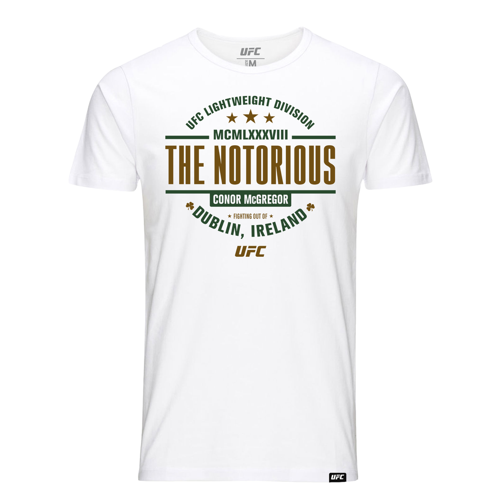 "UFC 229 Conor ""The Notorious"" McGregor MCMLXXXVIII T-Shirt - White"