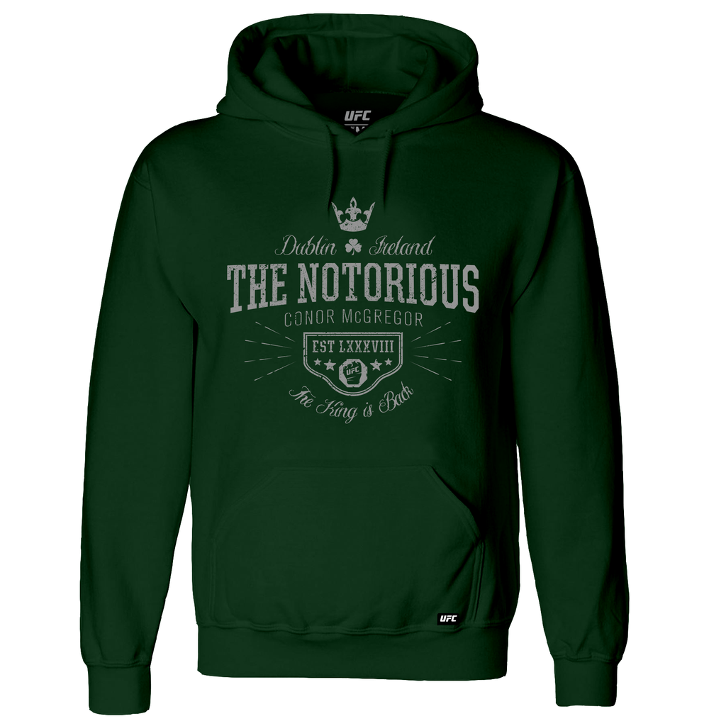 "Men's UFC Conor ""The Notorious"" McGregor The King is Back! Hoodie - Green"
