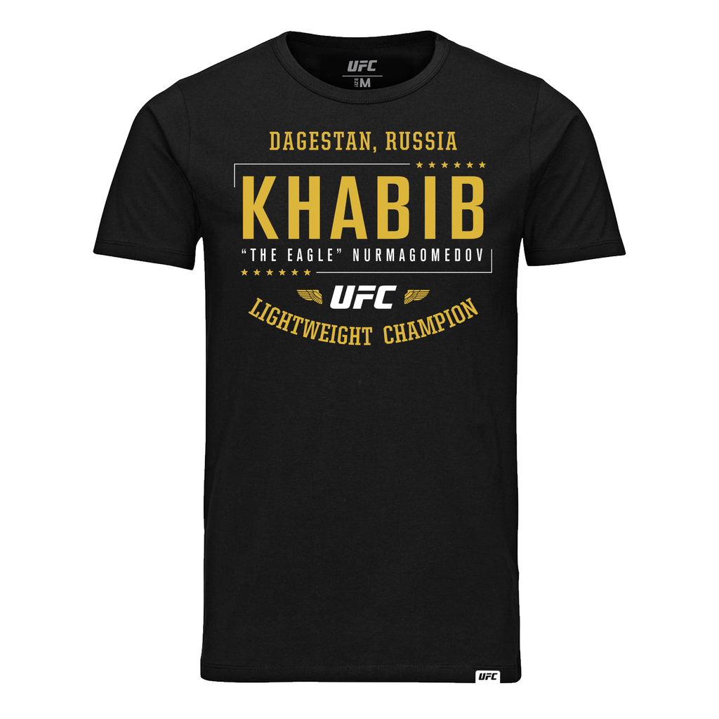 "Khabib ""The Eagle"" Nurmagomedov Lightweight  Champion T-Shirt- Black"