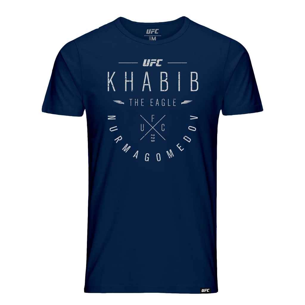 "UFC 229 Khabib ""The Eagle"" Nurmagomedov Script T-Shirt- Navy"