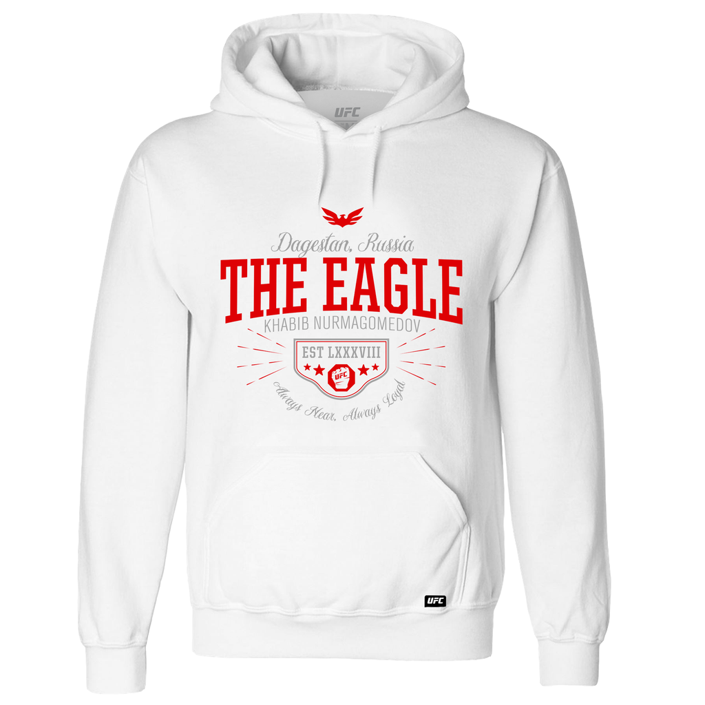 "Khabib ""The Eagle"" Nurmagomedov Quote Hoodie- White"