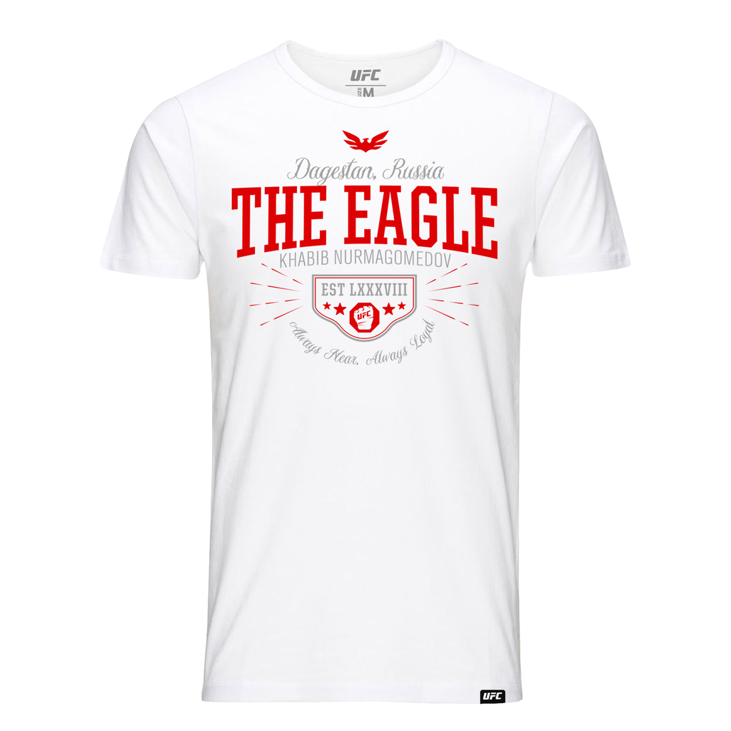 "Khabib ""The Eagle"" Nurmagomedov Quote T-Shirt- White"