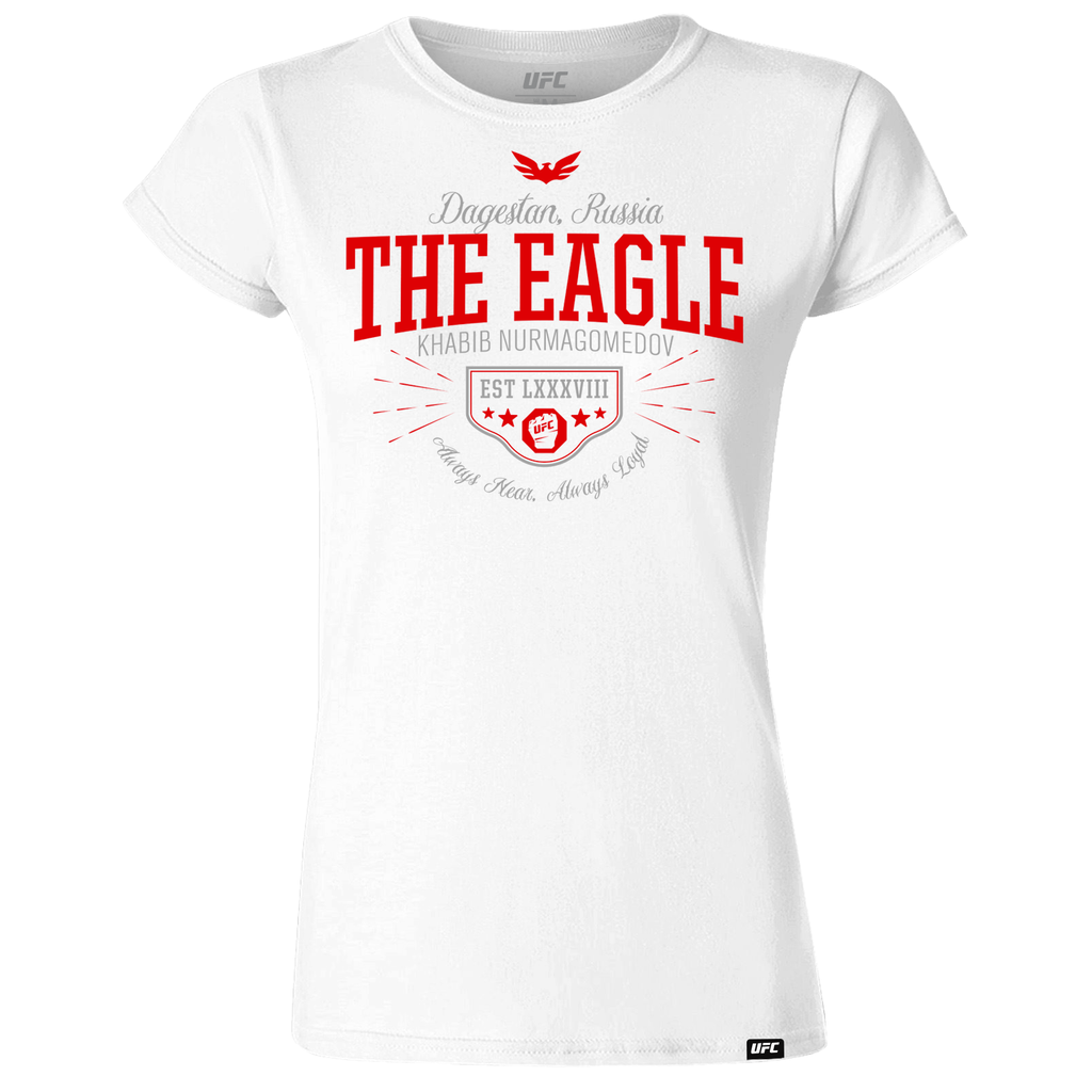 "Khabib ""The Eagle"" Nurmagomedov Quote Women's T-Shirt- White"