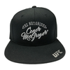 UFC Large Logo Embroidered England Flag Cap-Black