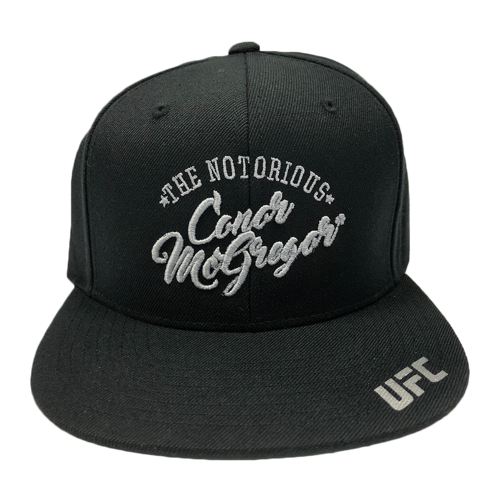 "UFC Conor ""The Notorious"" McGregor Script 3D embroidery Snapback Cap"