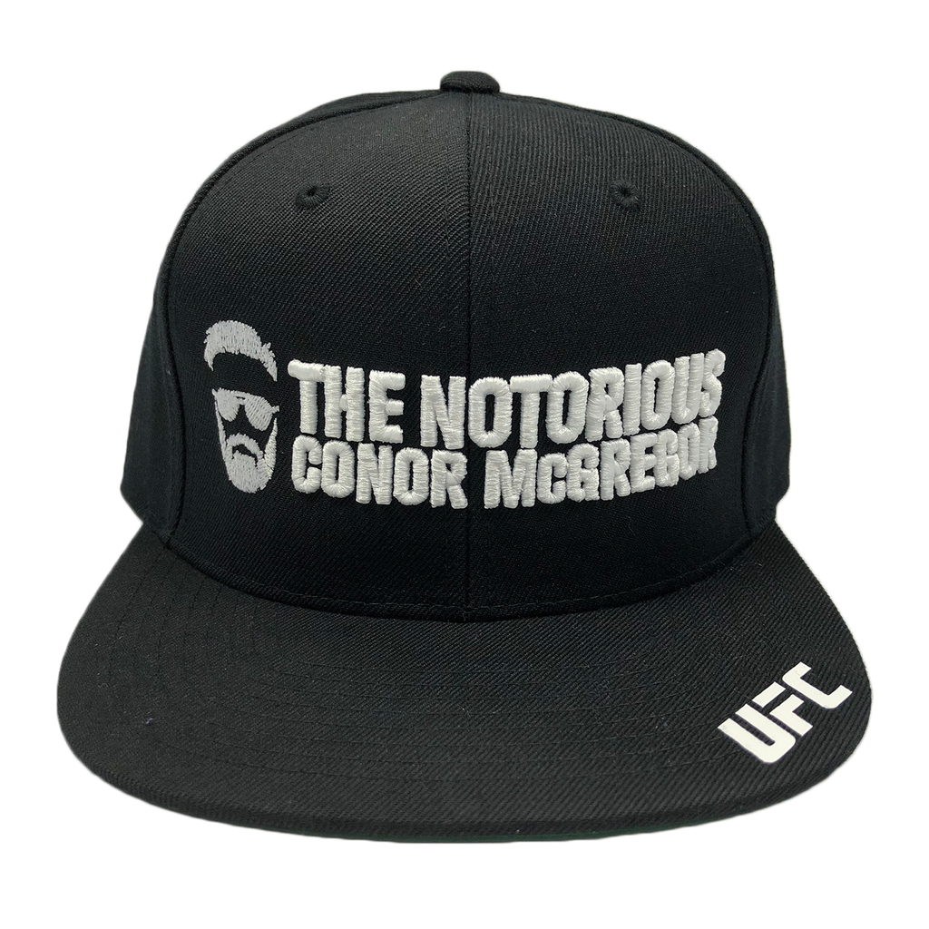 "UFC Conor ""The Notorious"" McGregor Silhouette 3D embroidery Snapback Cap"